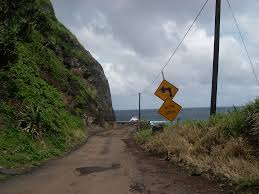 unpaved road to Hana