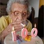 Old woman birthday cake