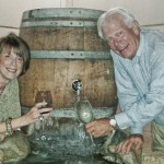 Me - with Bob - who thinks he can turn water into wine.