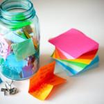 A colorful Memory Jar