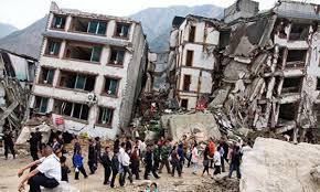 buildings crumbling
